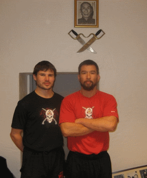 Brett Slansky with Sifu Christopher Collins from HKWTA