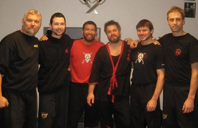 Seminář ve Švédku. Zleva: Patrik Gavelin, Zdeněk Kobrle, Chris Collins, Simon Zeeck, Brett Slánský, Jiří Drnec